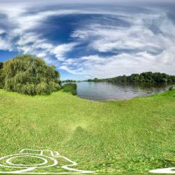 Park Babelsberg - Wilhelm-Wasserfall mit Blick auf die Glienicker Brücke - 360˚ HD-Panorama © René Blanke