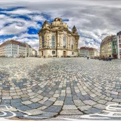 360-Grad Panorama - Frauenkirche in Dresden © RENÉ BLANKE, HD-Panorama.de