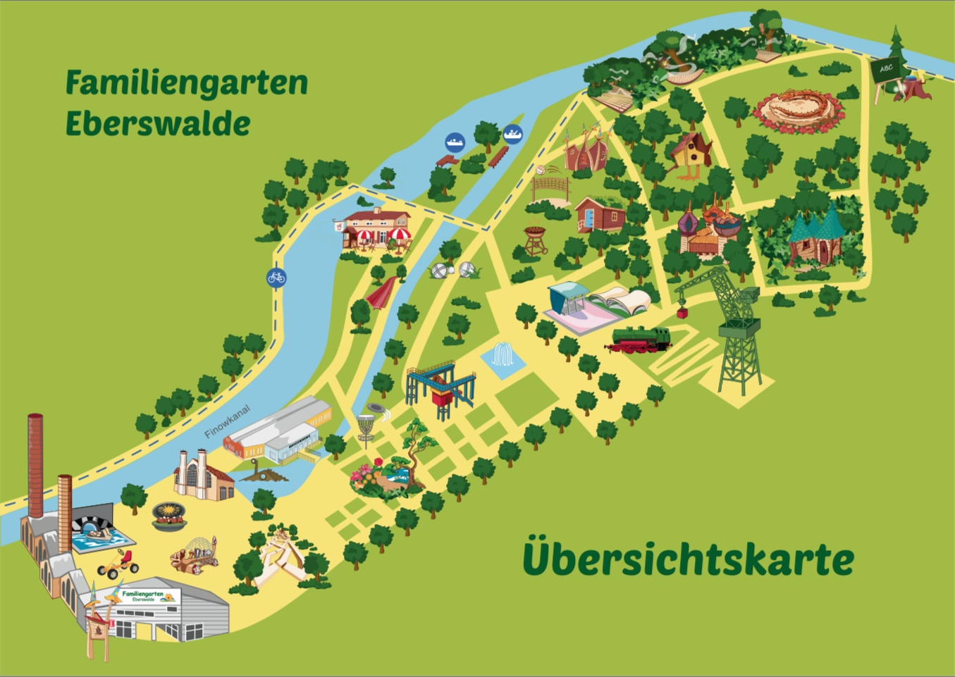 Familiengarten Eberswalde - Übersichtskarte - HD-Panorama