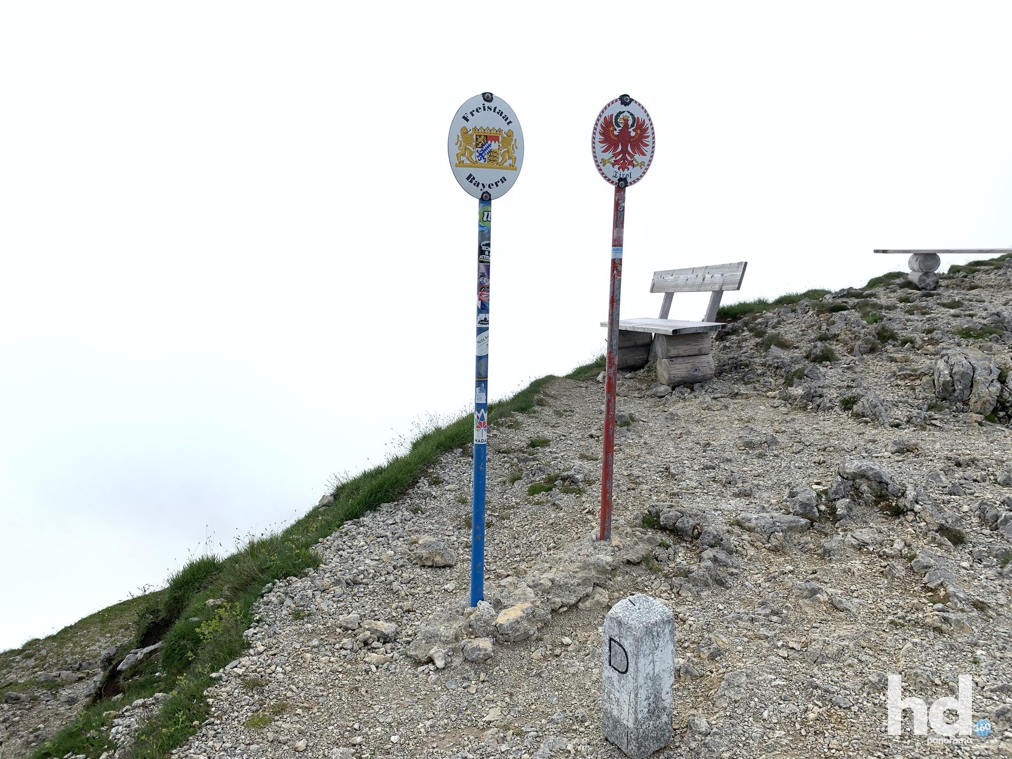 Westlicher Karwendelspitz - Grenzverlauf Deutschland - Österreich, Foto © HD-Panorama