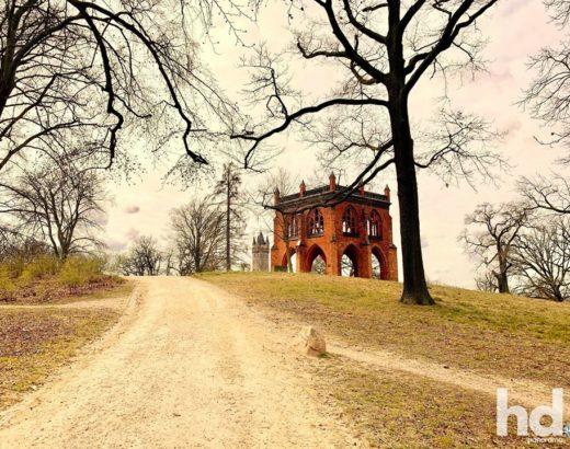 Park Babelsberg - Gerichtslaube, Fltatowturm und Sichtachsen
