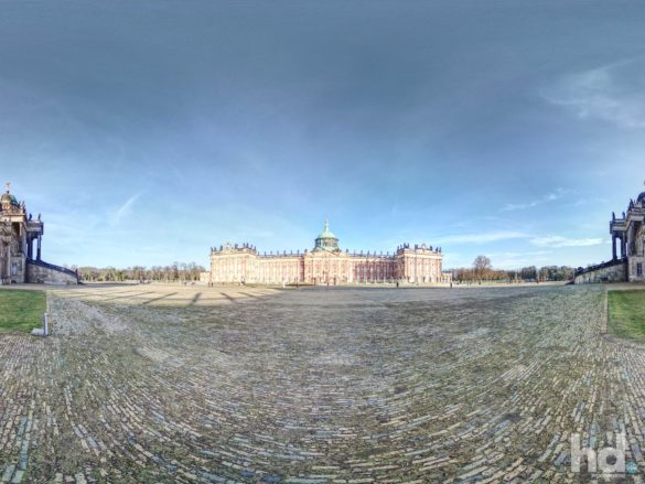 Neues Palais in Potsdam - 360° Grad HD-Panorama