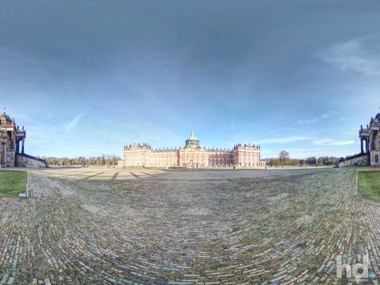 Neues Palais in Potsdam - 360° Grad HD-Panorama