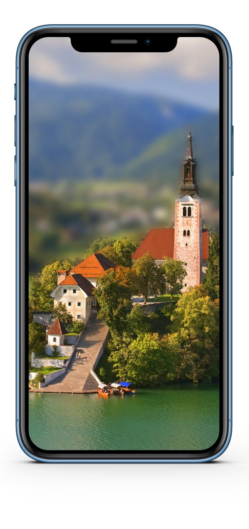 iPhone XR Wallpaper tilt shift