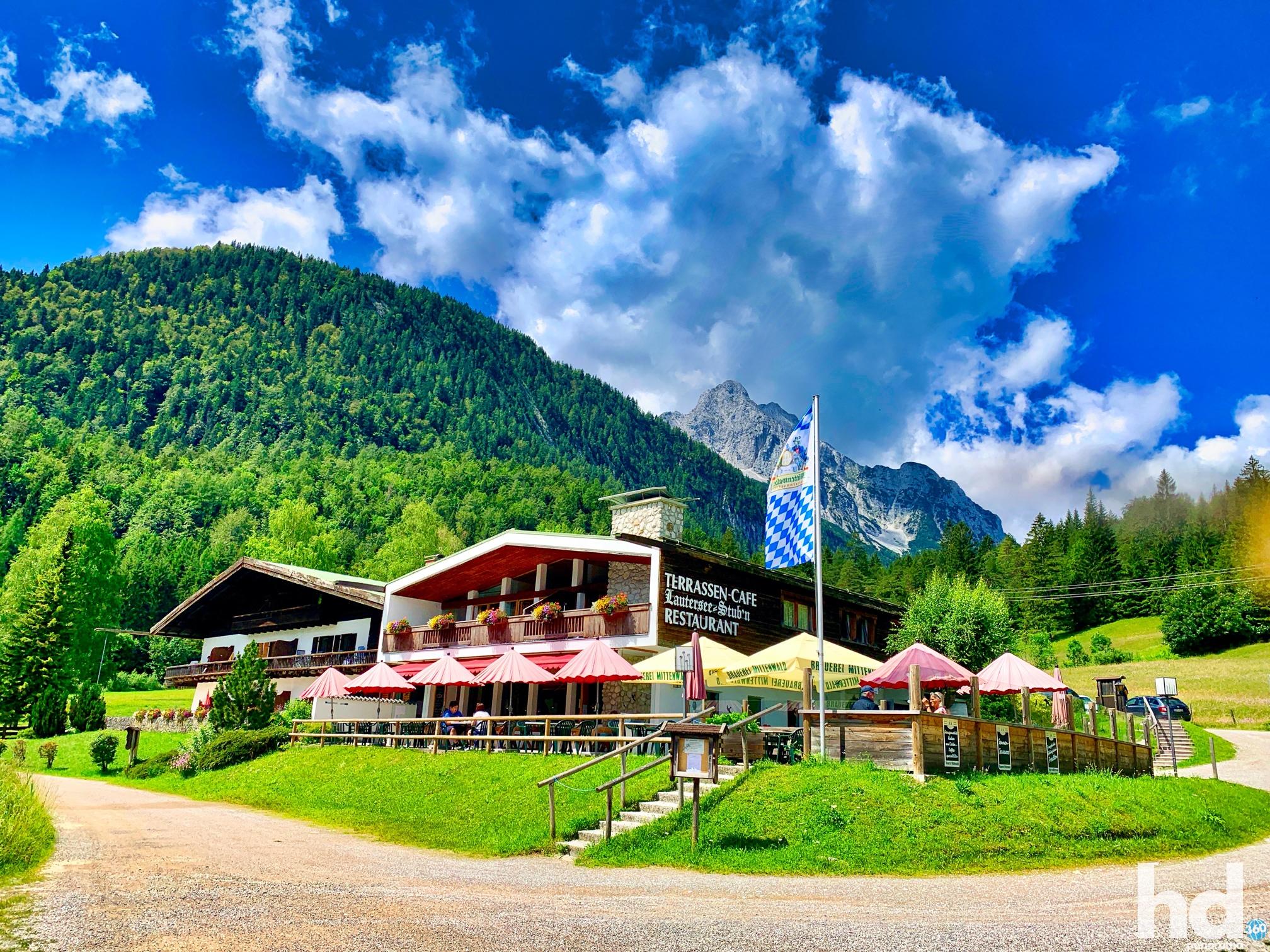 Die Lautersee Stub'n am Lautersee in Mittenwald im Karwendelgebirge - Foto © HD-Panorama