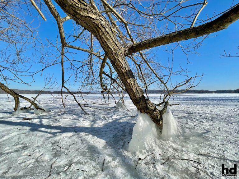 Eis und Schnee in Potsdam im Winter 2021